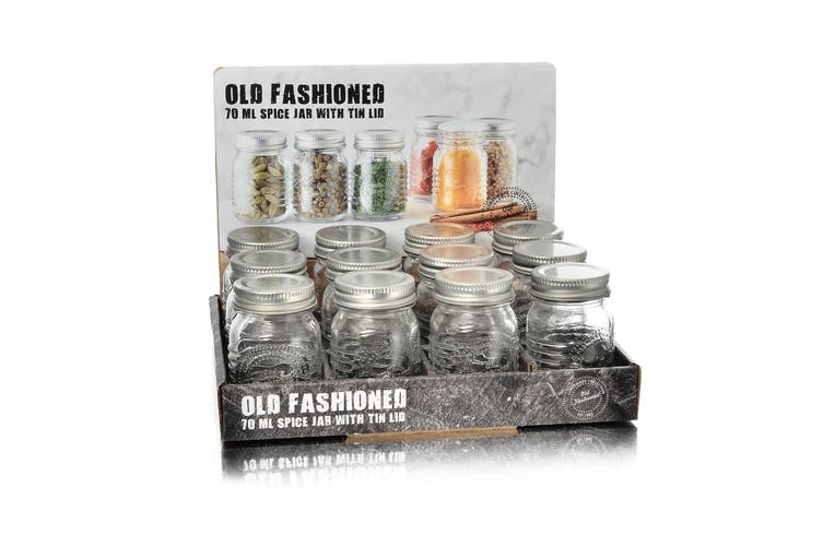 Salisbury & Co Old Fashioned Round 12pc Spice Jar Set 70ml