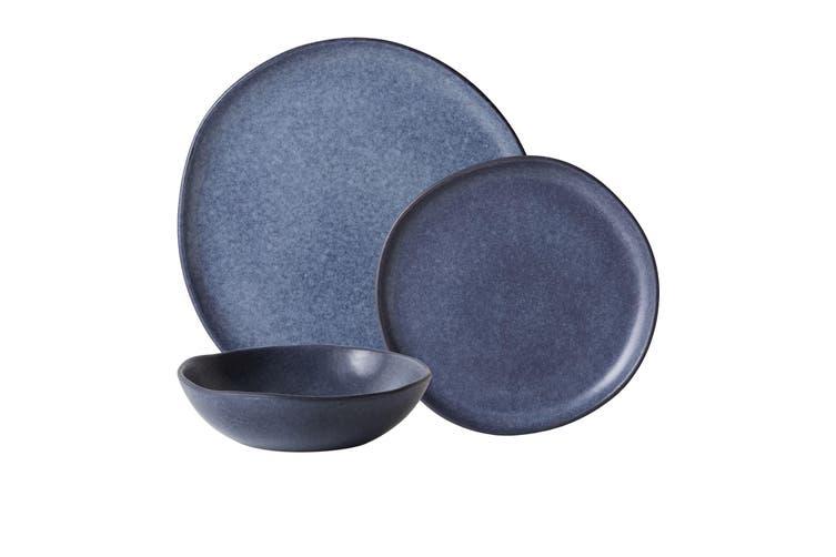 Salisbury & Co Capri 12pc Dinner Set Dark Blue