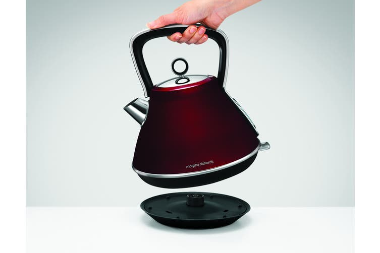 Morphy Richards 2200W Evoke 1.5L Pyramid Red Stainless Steel Kettle