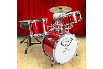 Children's 4pc Drum Kit - Red
