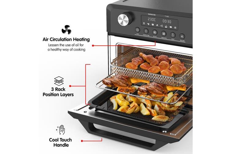 Pronti 18L 1500W Electric Air Fryer Multi Cooker Oven Black