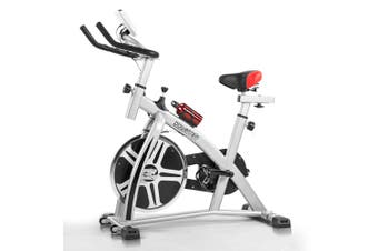 Powertrain Heavy Flywheel Exercise Spin Bike - Silver