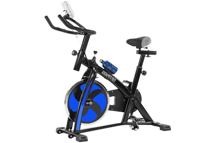 Powertrain Flywheel Exercise Spin Bike Home Gym Cardio - Blue