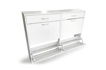 Shoe Cabinet Organizer Storage Rack 1200 x 240 x 920 - White