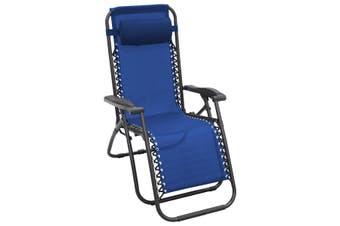 Zero Gravity Reclining Deck Chair - Blue