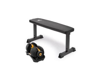 Powertrain 24kg Gold  Adjustable Dumbbell w/ 10437 Adidas  Bench