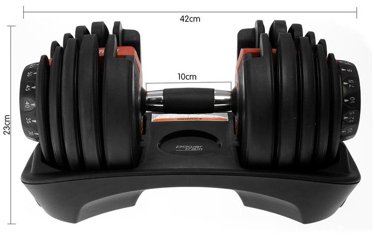 24kg Powertrain Adjustable Home Gym Dumbbell