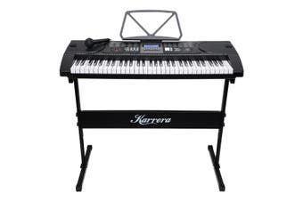 Karrera 61 Keys Electronic Keyboard Piano with Stand - Black