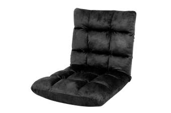 Adjustable Cushioned Floor Gaming Lounge Chair 100 x 50 x 12cm - Black