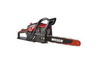 Wesco 4-stroke 47.1cc Petrol Chainsaw 16in Bar - Refurbished
