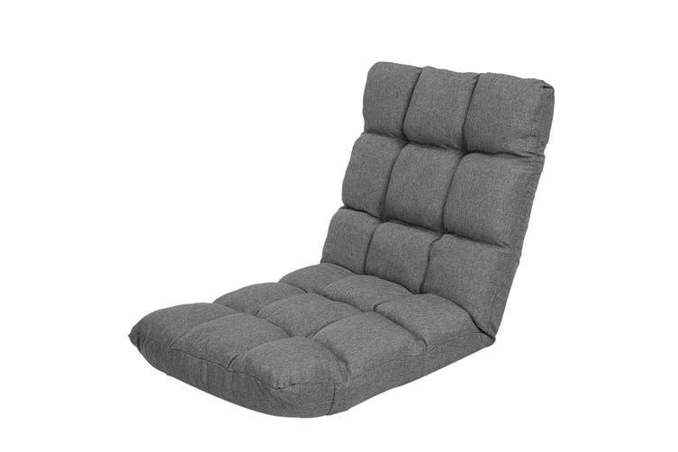 Adjustable Floor Gaming Lounge Line Chair 100x50x12cm - Dark Grey