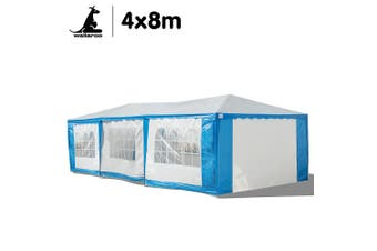 Wallaroo 4x8 Outdoor Event Marquee Tent Blue-White