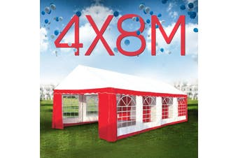 Wallaroo 4x8 Outdoor Event Marquee Tent Red-White