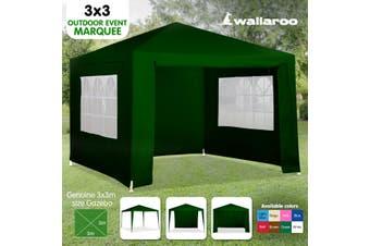3x3m Wallaroo Outdoor Party Wedding Event Gazebo Tent - Green