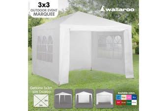 3x3m Wallaroo Outdoor Party Wedding Event Gazebo Tent - White