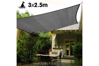 Wallaroo Rectangular Shade Sail 3m x 2.5m - Grey