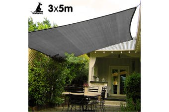 Wallaroo Rectangular Shade Sail 3m x 5m -Grey