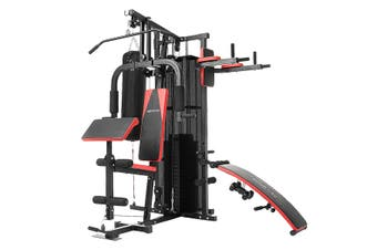 Powertrain Multi-Station Home Gym with Punching Bag - 165lbs