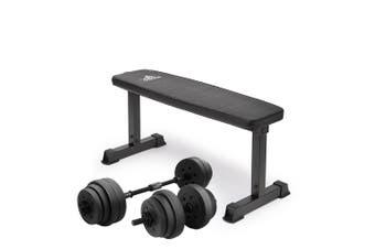 Rebajar mental Absoluto  Powertrain 20kg Dumbbell Home w/ Adjustable Adidas 10437 Bench Weights -  Kogan.com
