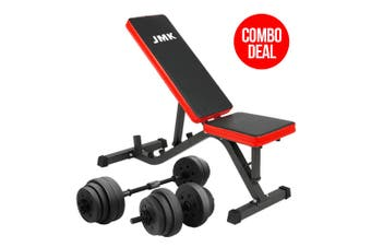 Powertrain 20kg Dumbbell Home Gym Exercise Adjustable Bench Weights