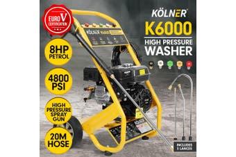 Kolner 6000 8HP 4800psi Petrol Engine High Pressure Washer Cleaner