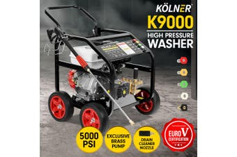 Kolner 9000 5000psi Petrol Engine Pressure Washer 20m Hose Cleaner