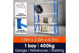 1 Bay Garage Storage Steel Rack Long Span Shelving 1.0m-wide 400kg
