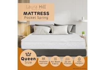 Laura Hill Pillow Top Pocket Spring 22in Mattress - Queen