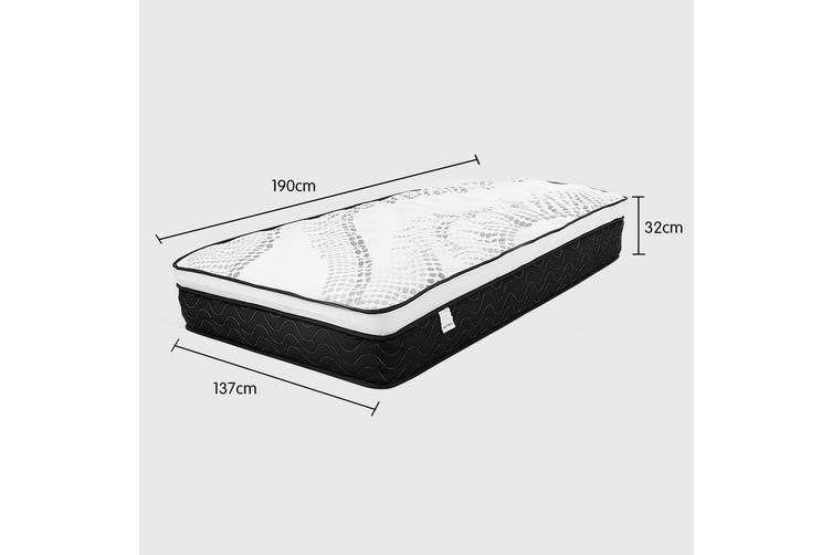 Laura Hill Premium Double Mattress with Euro Top Layer - 32cm