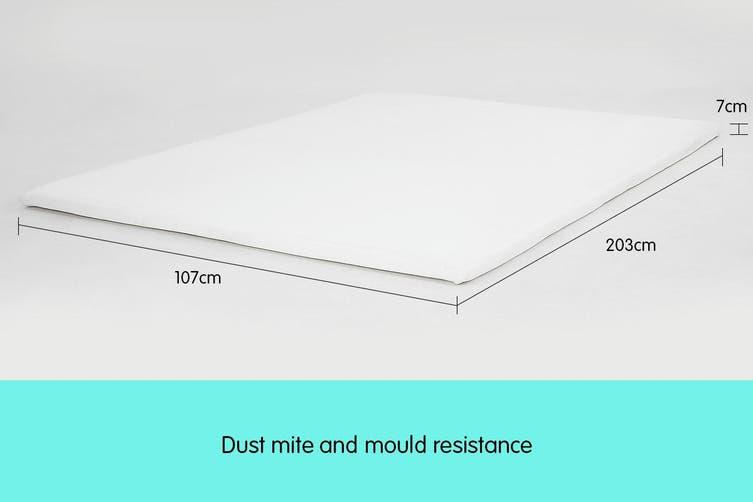 Laura Hill High Density Mattress foam Topper 7cm - King Single