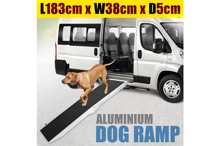 Foldable Aluminium Dog Ramp -  183 x 38cm