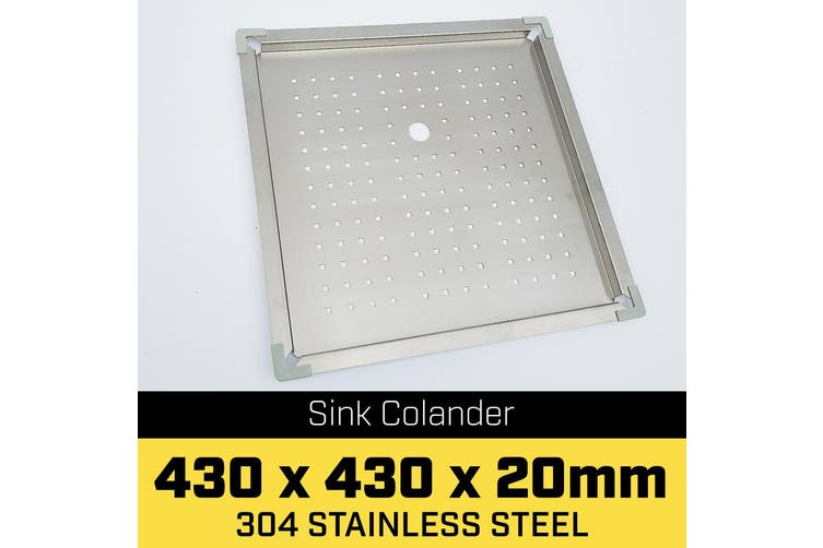 Stainless Steel Sink Colander 430 x 430mm
