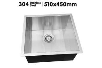 304 Stainless Steel Undermount Topmount Kitchen Laundry Sink 51x45cm