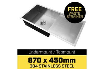 304 Stainless Steel Sink - 870 x 450mm