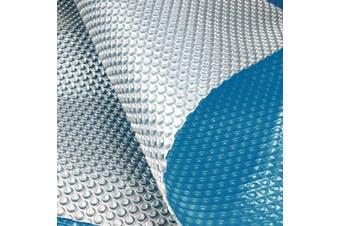 400 Micron Solar Swimming Pool Cover -  Blue/Silver 10.5m x 4.2m