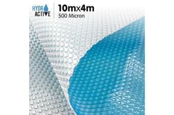 500 Micron Solar Swimming Pool Cover -  Blue/Silver 10m x 4m