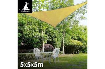 Wallaroo Triangle Shade Sail 5m x 5m x 5m - Sand