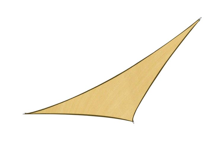 Wallaroo Triangle Shade Sail 5m x 5m x 5m - Sand