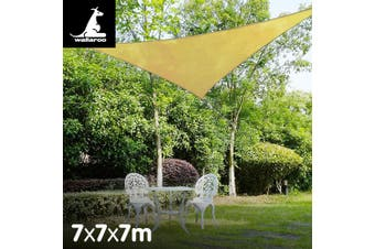 Wallaroo Triangle Shade Sail 7x7x7 - Sand