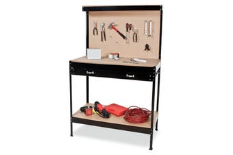 2-Layered Work Bench Garage Storage Table Tool Shop Shelf