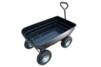 Garden Dump Cart Dumper Wagon Carrier Wheel Barrow  75L
