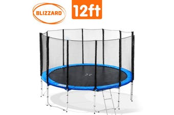 Blizzard 12ft Trampoline with Outer net Blue