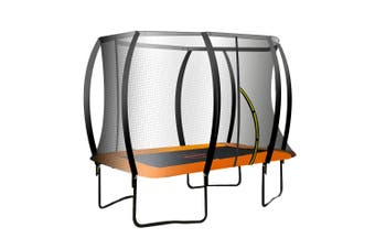 Kahuna Trampoline 8 ft x 11 ft Rectangular Outdoor - Orange