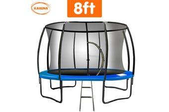 Trampoline 8 ft Kahuna Round Outdoor - Blue