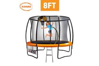 Kahuna Trampoline 8 ft with Basketball set - Orange