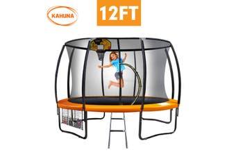 Kahuna Trampoline 12 ft with Basketball set - Orange