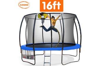 Trampoline 16 ft Kahuna with Basketball set - Blue