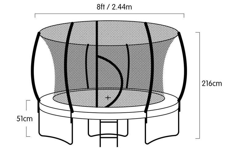 Kahuna Pro 8ft Trampoline
