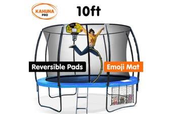 Kahuna Trampoline Pro 10ft - Reversible pad, Mat, Basketball Set
