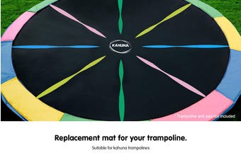 Kahuna 12ft Trampoline Replacement Spring Mat - Rainbow
